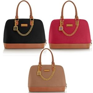 Genuine Leather Timeless Chic Leading Lady Bag